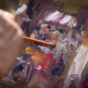 Remco Wighman; Painter The artist at work|źródło: flickr.com