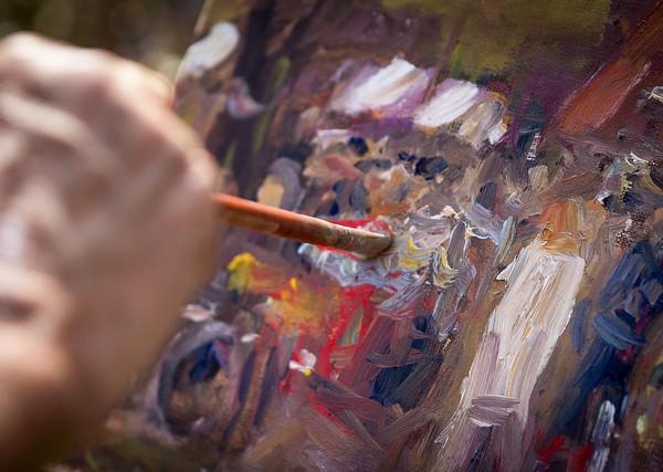 Remco Wighman; Painter The artist at work źródło: flickr.com